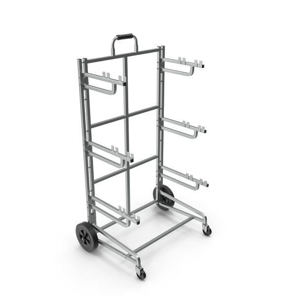 Triple Bin Recycling Cart