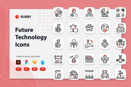 Rubby - Future Technology Icons