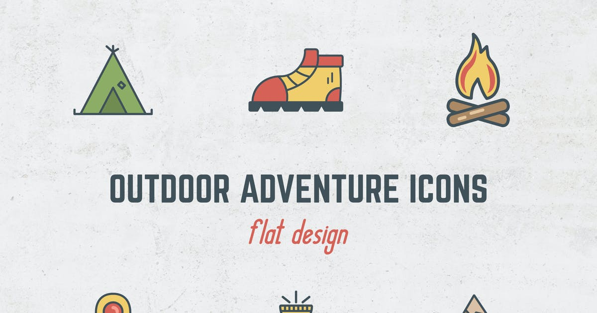 Outdoor Flat Icons by JeksonJS