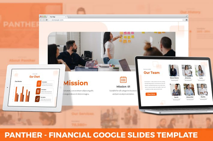 Thumbnail for Panther - Financial Google Slides Template
