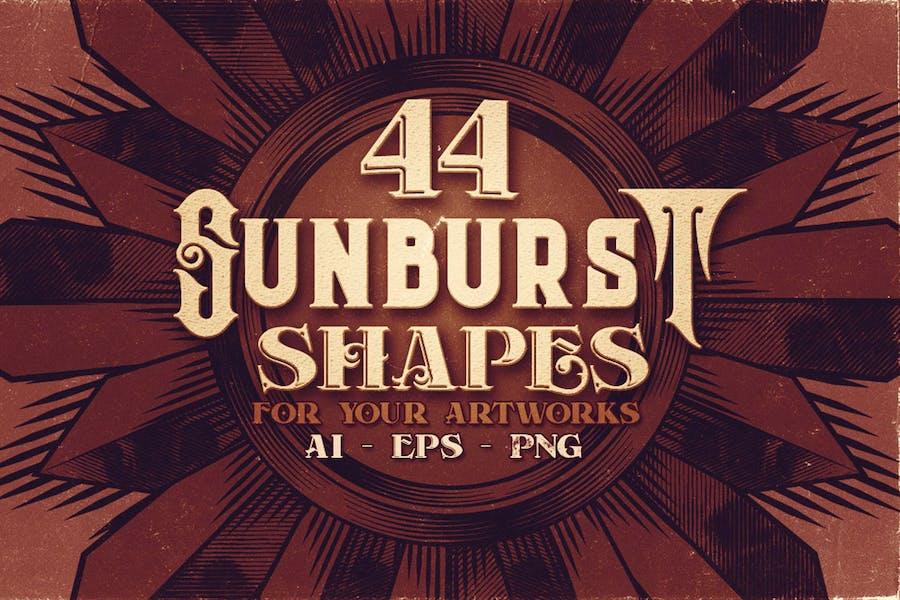 44 Sunburst Shapes