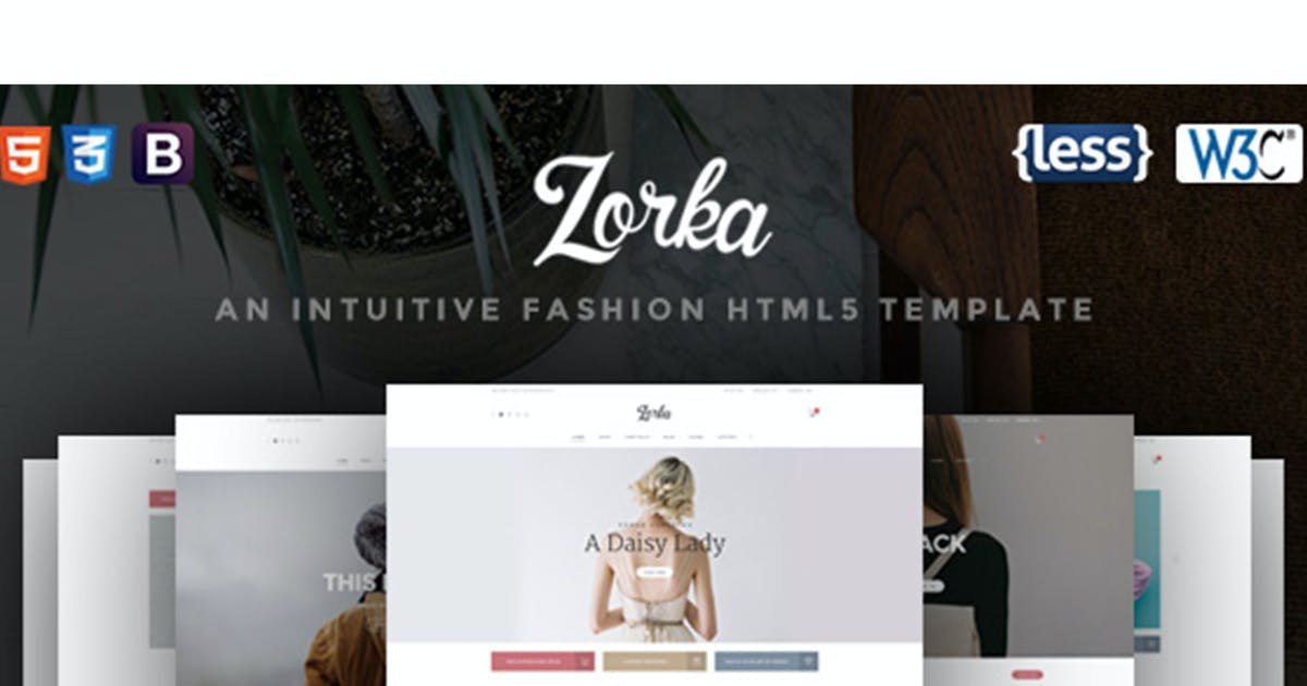 Download Zorka - An Intuitive Fashion HTML5 Template by nouthemes
