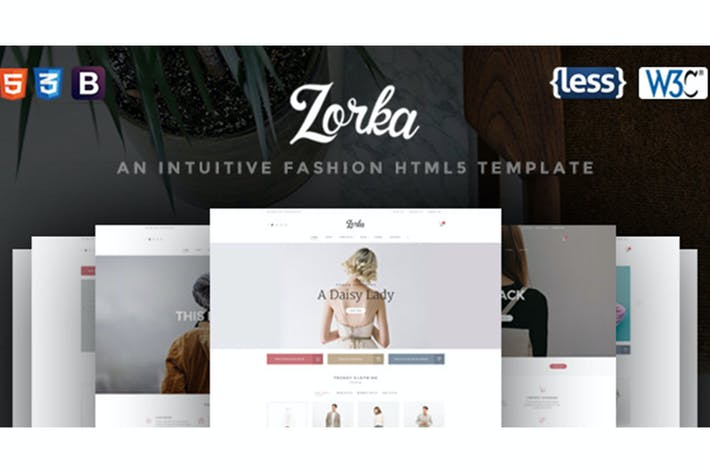 Download 10 php website templates envato elements thumbnail for zorka an intuitive fashion html5 template maxwellsz