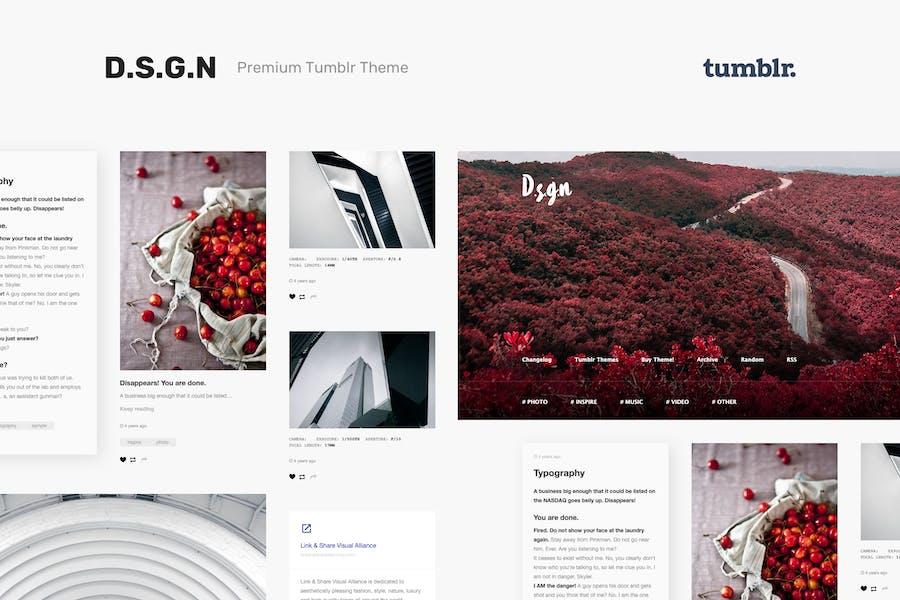 D.S.G.N | Grid-Based, Gallery Tumblr Theme