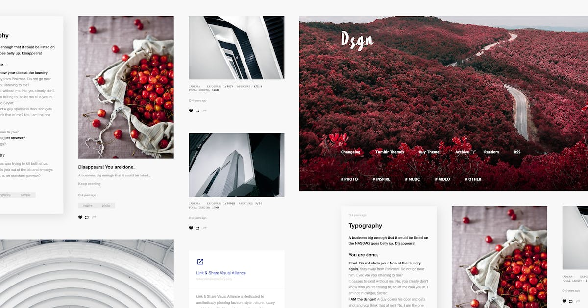 Download D.S.G.N | Grid-Based, Gallery Tumblr Theme by roseathemes