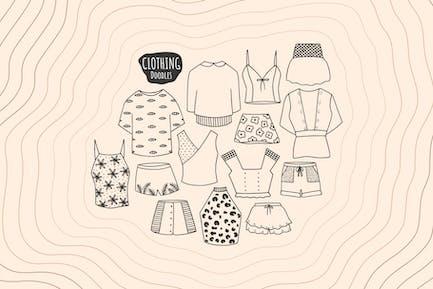 Garabatos de ropa