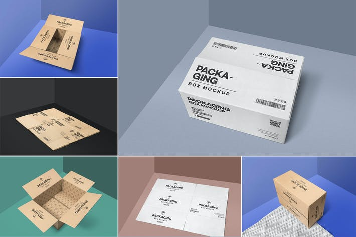 Thumbnail for 6 Packaging Box Mockups