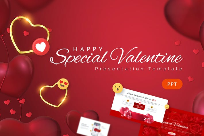 Special Valentine Powerpoint Template