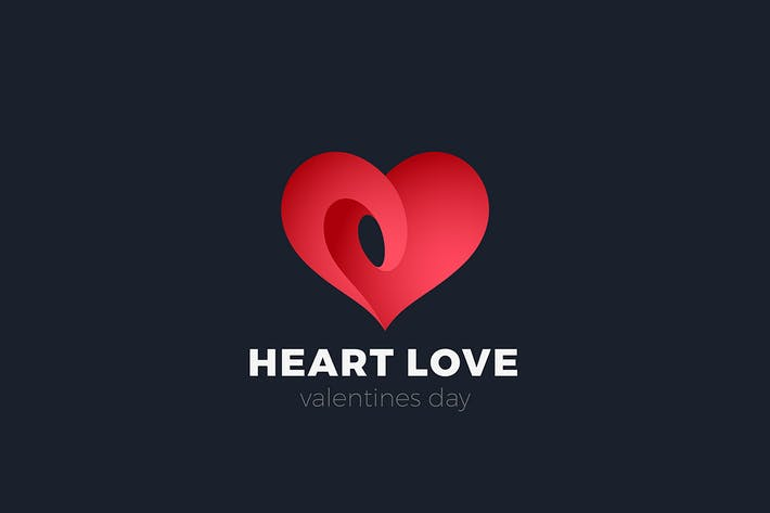 Thumbnail for Heart Love Logo Valentines Day Dating symbol