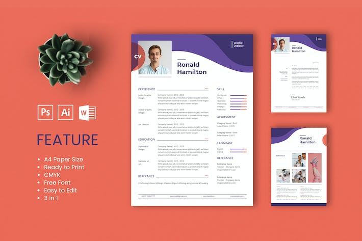 Thumbnail for Professional CV And Resume Template Ronald