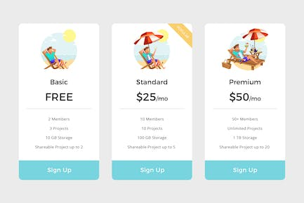 Pricing Table Vol.1