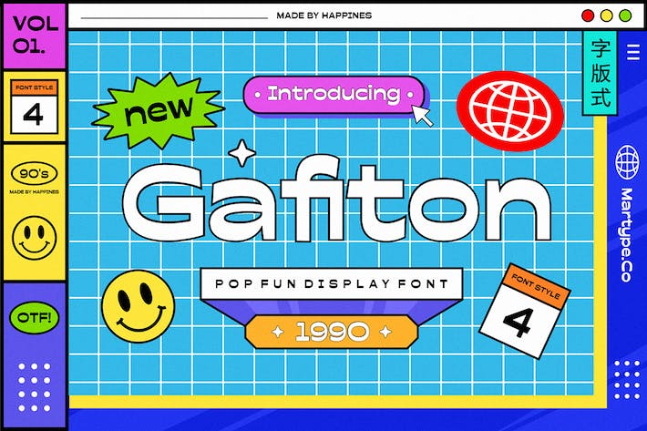 Gafiton - Pop Fun Display Fuente