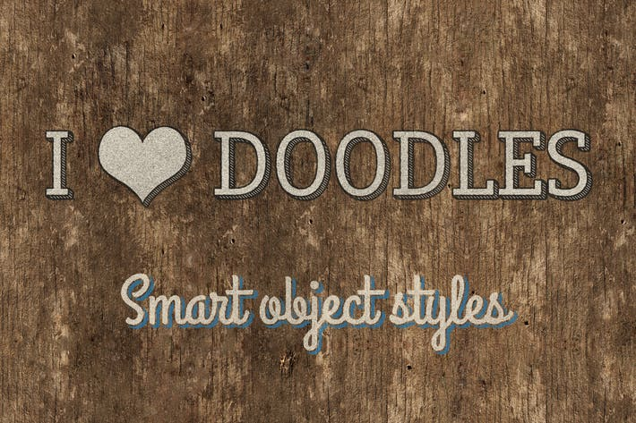 Thumbnail for I ♥ Doodles — Hand Drawn Photoshop Styles