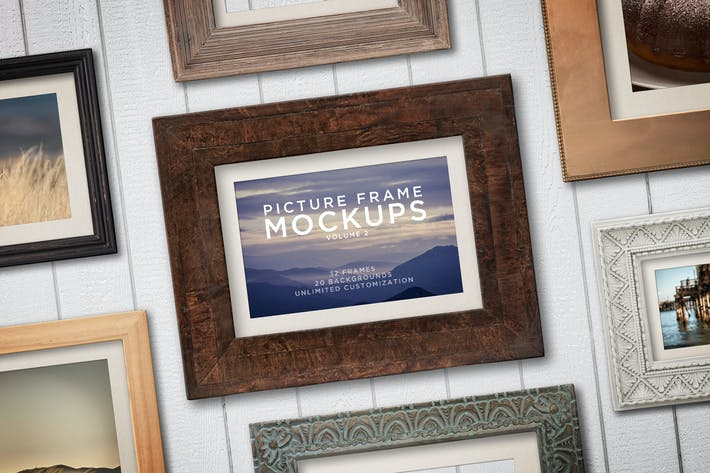 Thumbnail for Picture Frame Mockups Volume 2