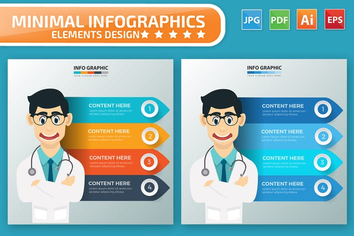 Thumbnail for Doctor Infographics Design