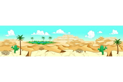 Desert with Oasis
