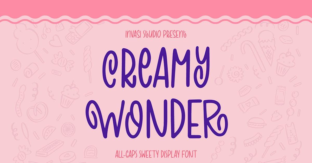 Download Creamy Wonder   Display Font by InvasiStudio