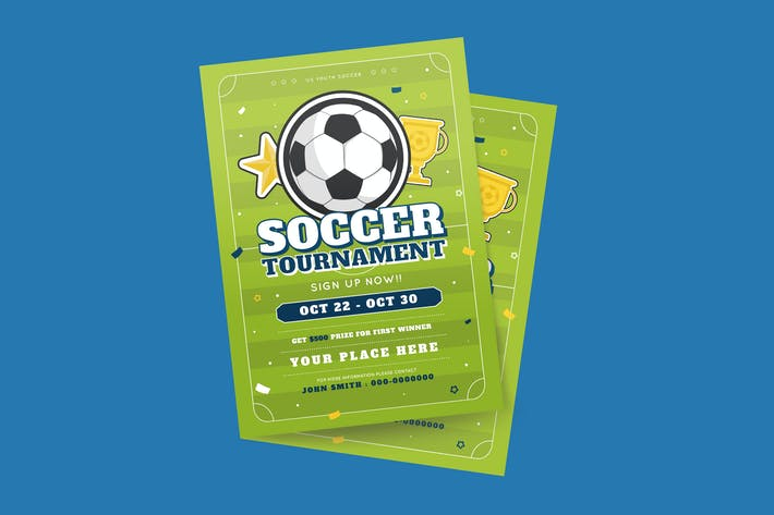 Cover Image For Soccer  Tournament Flyer