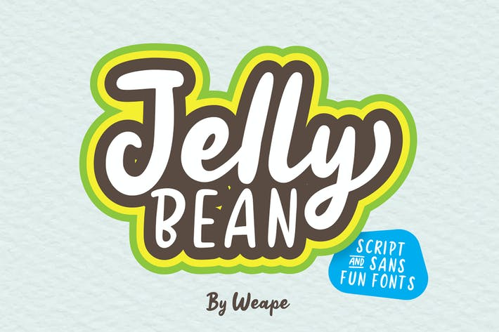 Thumbnail for Jellly Bean Script & Police Sans Fun