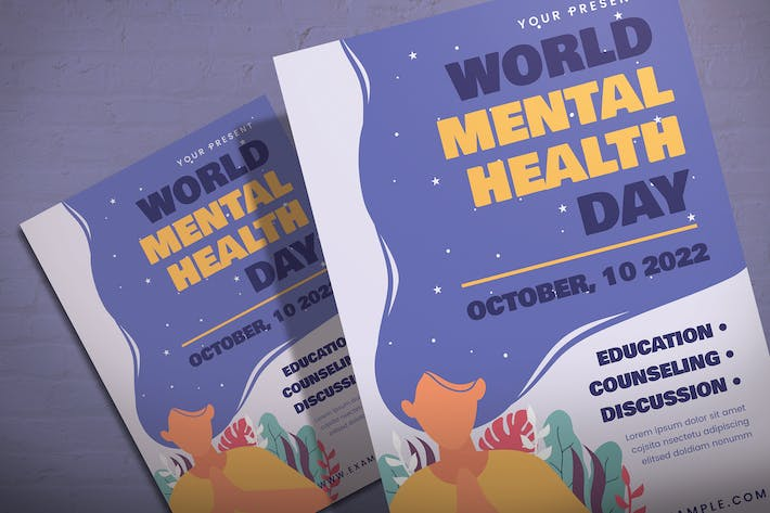 Thumbnail for World Mental Health Day - Flyer Template