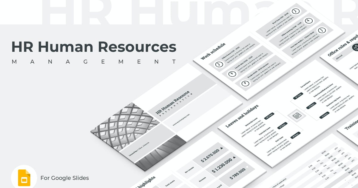 Download HR Human Resources Google Slides Template by Jetz