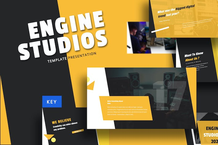 Thumbnail for Engine Studio - Music Keynote Template