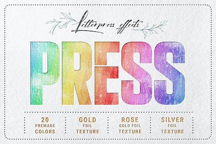 Letterpress - Text & Logo PSD Mockups