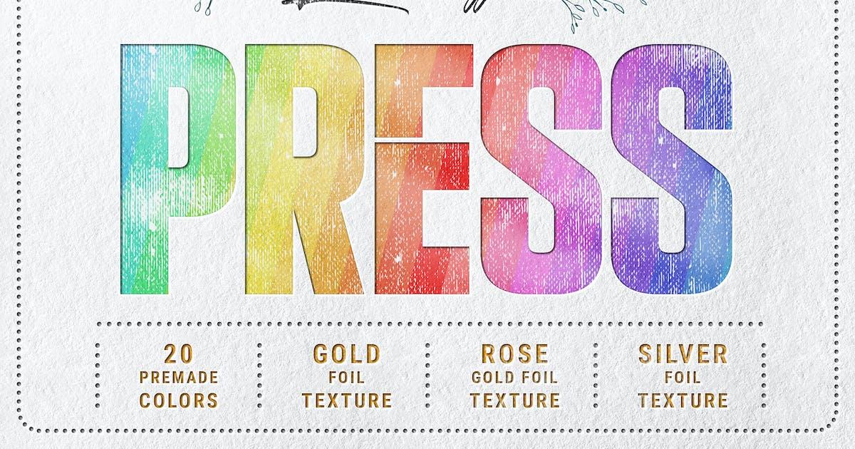Download Letterpress - Text & Logo PSD Mockups by Sko4