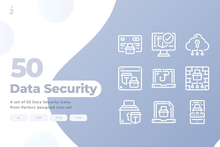 50 Data Security Icons