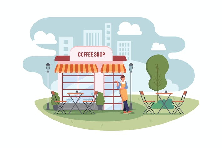 Thumbnail for Coffee shop Illustration concept