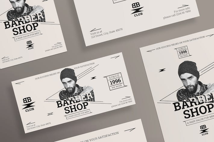 Thumbnail for Barbershop Services Flyer and Poster Template