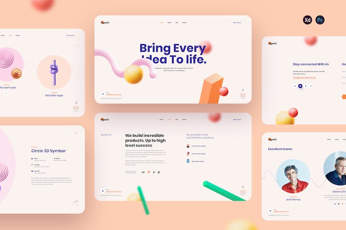 Agechi - Creative Agency landing page template