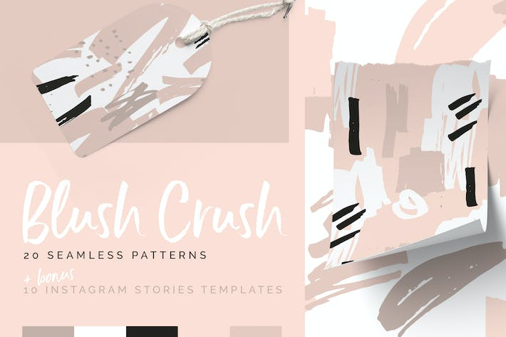 Thumbnail for Blush Crush Patterns & Instagram Templates