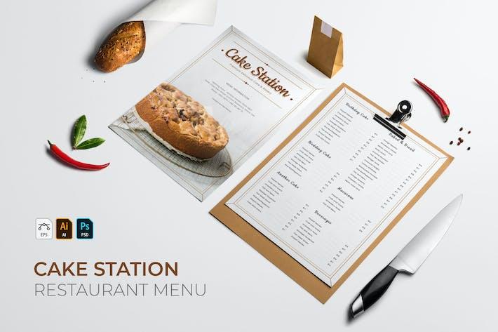 Thumbnail for Cake Station | Restaurant Menu