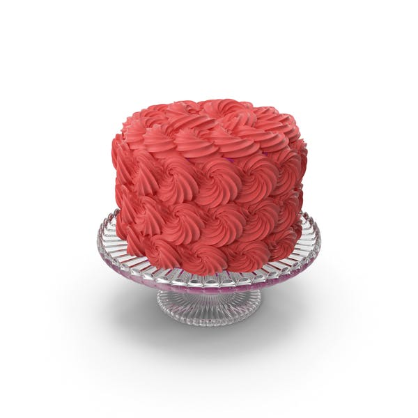 Red Rose Swirl Cake