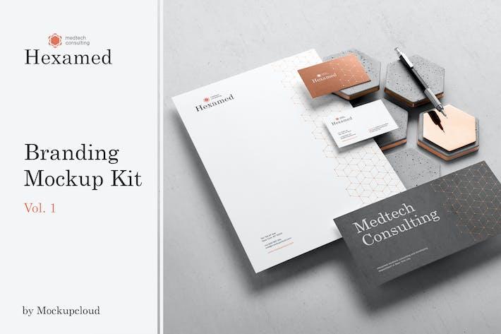 Thumbnail for Hexamed Branding Mockup