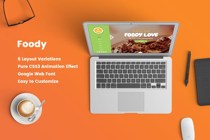 Thumbnail for Foody – Responsive Restaurant HTML5 Template