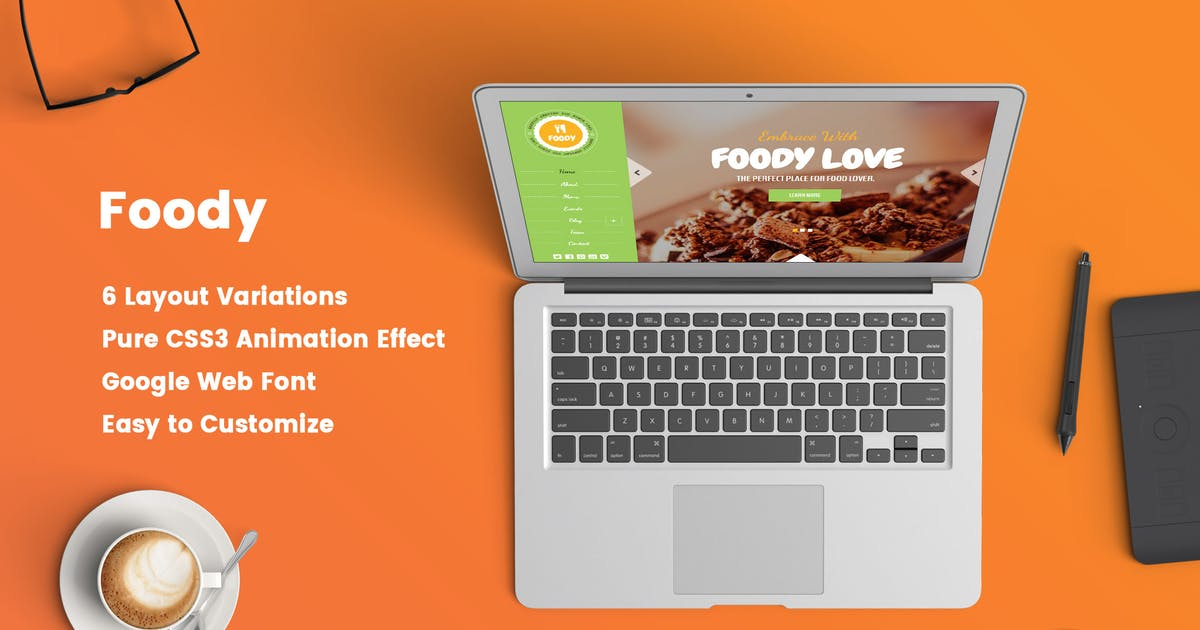 Download Foody – Responsive Restaurant HTML5 Template by Jewel_Theme