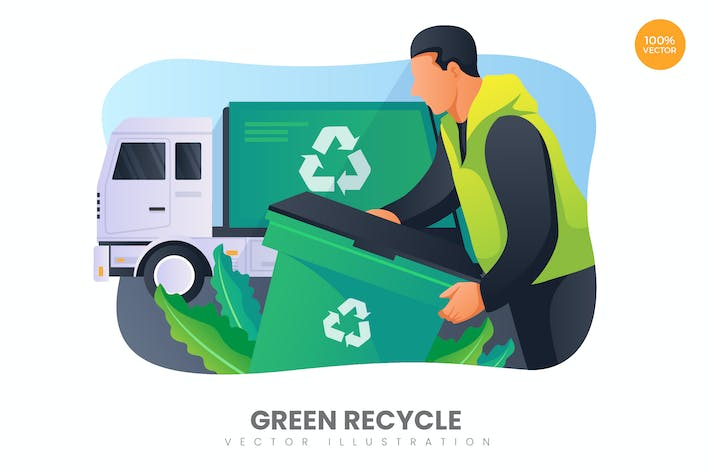 Thumbnail for Green Recycle Vector Illustration Concept