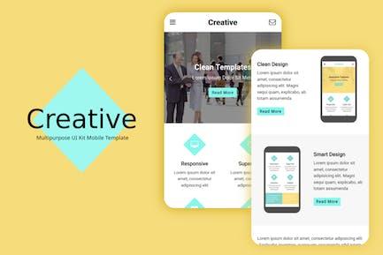 Creative - Multi-Purpose Mobile Template UI Kit