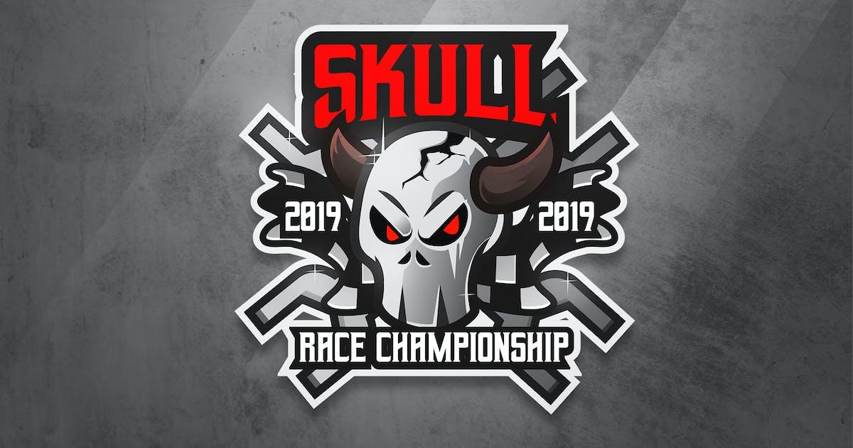 Skull Race - Mascot & Esport Logo by aqrstudio