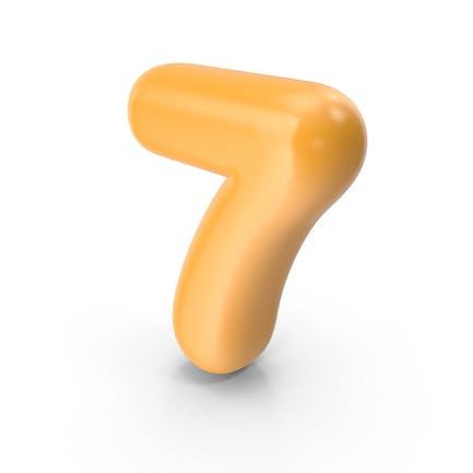 Orange Toon Ballon Nummer 7
