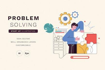 Problem Solving Startup Illustration