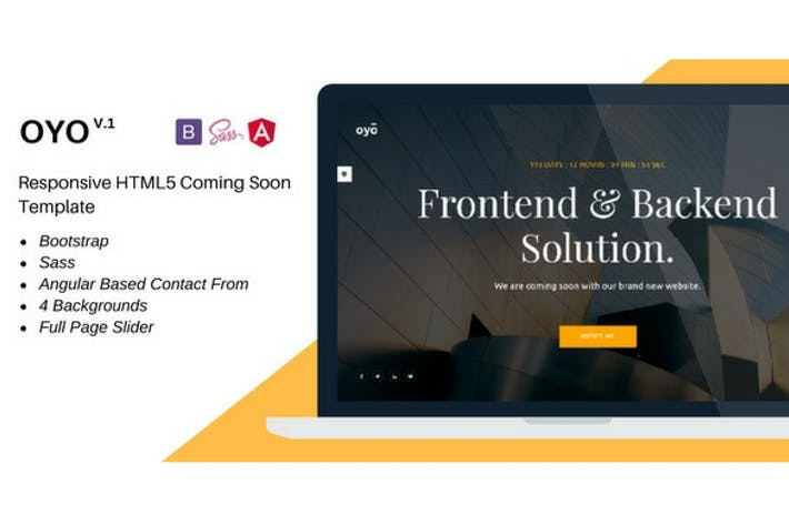 Thumbnail for Oyo – Responsive HTML5 Coming Soon Template