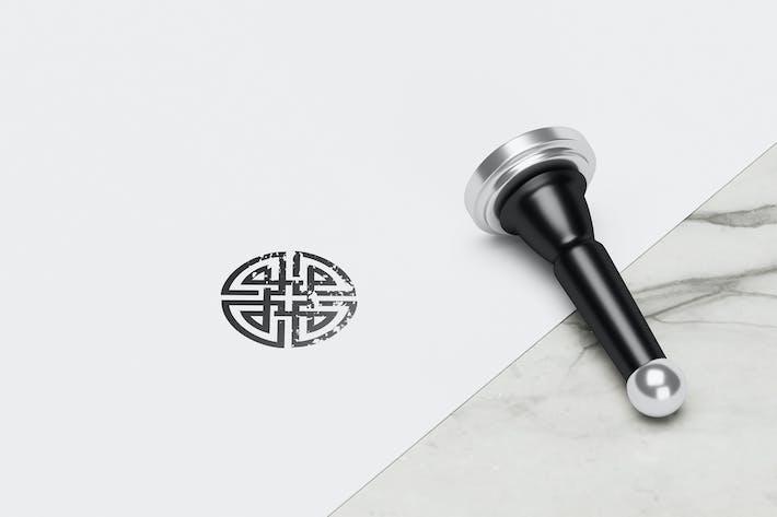 Thumbnail for Elegant Stamp Mockup