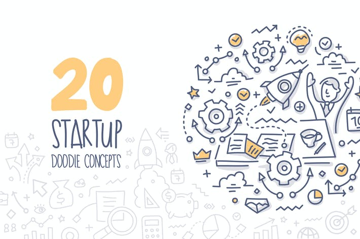 Thumbnail for 20 Startup Doodle Concepts