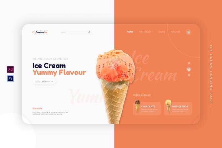 Thumbnail for Ice Cream | Landing Page