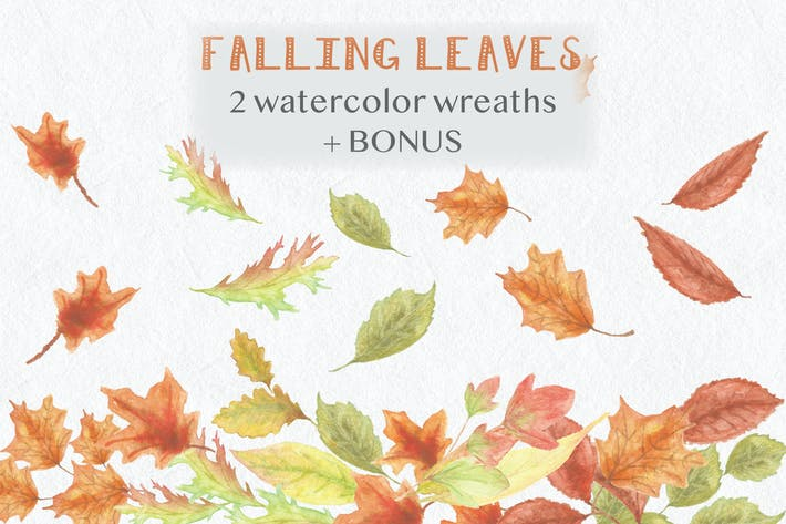 Thumbnail for Falling Leaves: Autumn Clip Art