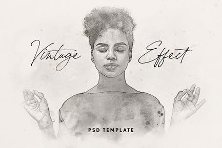 Vintage Watercolor Effect for Photoshop