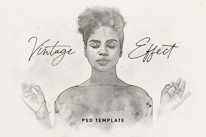 Thumbnail for Vintage Watercolor Effect for Photoshop